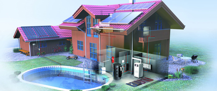 Schematic Diagrams Of Solar Thermal Systems For Hot Water